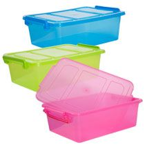 Translucent Plastic Storage Boxes with Clip-Lock Lids at Deals