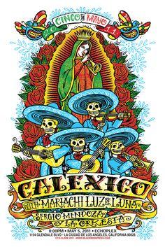 El Dia De Los Muertos    Old poster from Tucson-based bandCalexico.