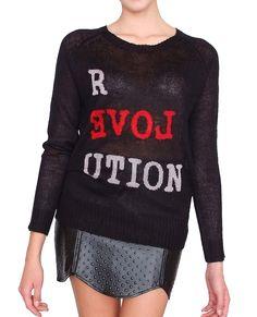 Revolution Sweater Top Black