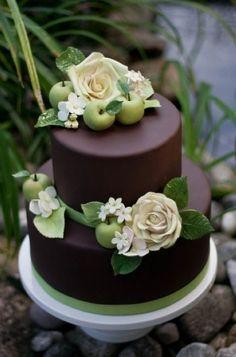 Two Tiers Mini Chocolate Cake