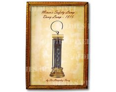 Antique Miner's Safety Lamp 1815 Sir Humphry Davy by OldiesPixel, $3.25