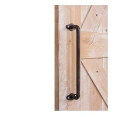 The century barn door handle is one of our best sellers. With ornate detail at the handle base and clean lines it matches any barn door hardware system.