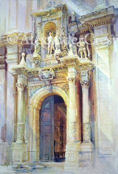 "Sicily - San Sebastiano, Ferla<br/>59"" x 40""<br/>2004<br/><a class=""paintingSold""><span>SOLD</span></a>"