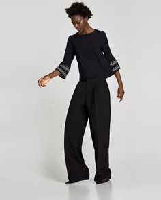 EMBROIDERED RUFFLED TOP-NEW IN-WOMAN | ZARA United States