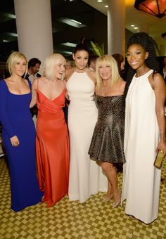 Pin for Later: See All the Glamorous Grammys Preparties Ahead of the Big Show  Pictured: Natasha Bedingfield, Jordin Sparks, Brandy, Ellie Goulding, and Suzanne Somers