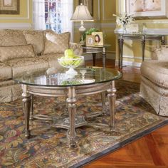'Galloway' Traditional Wrought Iron Glass-top Demilune Table   Overstock™ Shopping - Great Deals on Magnussen Home Furnishings Coffee, Sofa & End Tables