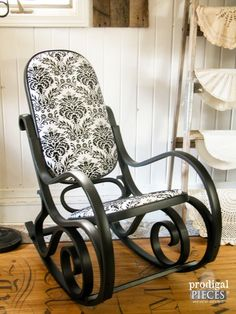 I Spied This Worn Out Vintage Bentwood Rocker Curbside, But It Screamed  Potential. With