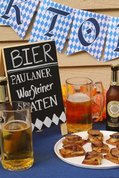 Oktoberfest Party Decor & FREE printables. Octoberfest Party Decorations. Banner, Subway Art, Water Bottle Labels. Beer Tasting Party Ideas. German Beer Festival