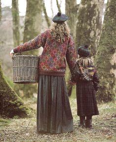 Fair isle sweater with long skirt, tartan tam Look Fashion, Winter Fashion, Womens Fashion, Moda Hippie, Country Fashion, Country Style, Fair Isle Knitting, English Style, Mori Girl