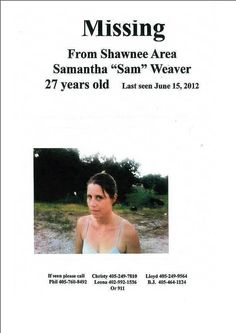 Missing Persons of America: Samantha Weaver: Missing from Oklahoma