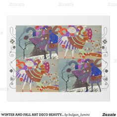 WINTER AND FALL ART DECO BEAUTY FASHION ,white Wrapping Paper
