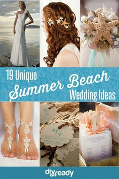 Find out how to get the unique and creative summer beach #wedding to make your wedding day a perfect bash!: www.teelieturner.com #wedding