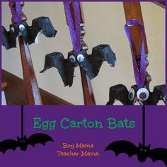 Boy Mama Teacher Mama   Egg Carton Bats