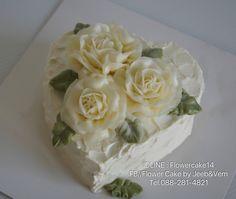 Buttercream Glossy By Jeeb&Vem Nakhonsawan Thailand IDLINE : flowercake14 FB//Flower Cake by Jeeb&Vem