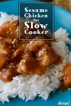 "Sesame Chicken for Slow Cooker | ""This recipe should be outlawed in every kitchen. OMG, I drank the leftover juices from the crock pot like it was soup. The second time I made it, I added vegetables to it, the possibilities of this recipe are endless. Thank you so much."" -Tony"