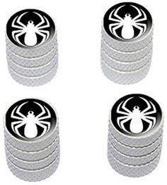 "(4 Count) Cool and Custom ""Diamond Etching Spiderman Symbol Top with Easy Grip Texture"" Tire Wheel Rim Air Valve Stem Dust Cap Seal Made of Genuine Anodized Aluminum Metal {Pure Dodge White and Black Colors - Hard Metal Internal Threads for Easy Application - Rust Proof - Fits For Most Cars, Trucks, SUV, RV, ATV, UTV, Motorcycle, Bicycles} mySimple Products http://www.amazon.com/dp/B00ZE4L9ZM/ref=cm_sw_r_pi_dp_9KDEwb0FE97TZ"