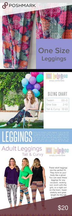 """Brand new Lularoe os leggings floral leggings Having the nickname """"butter leggings"""" is just a sign that our leggings are the softest around. Our leggings are ultra stretchy and super soft. They are as close to your own skin as you can get while still being clothed. Coming in both solid colors and a variety of patterns you are bound to end up with a pair for each day of the week. LuLaRoe Pants Leggings"""