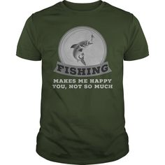 Fishing Makes Me Happy You Not So Much T Shirt Especially for those who love trout fishing! Cool Fish, Fishing T Shirts, Trout Fishing, Make Me Happy, Shirt Hoodies, Tees, Mens Tops, How To Make, Stuff To Buy