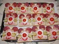 Silvestrovské chlebíčky - Recept Party Treats, Baby Food Recipes, Good Food, Food And Drink, Drinks, Cake, Fun, Hamburgers, The Originals