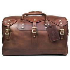 J. W. Hulme Co. Small Classic Duffle Bag, American Heritage Brown Leather - Fendrihan - 1