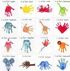 Handprint Alphabet Art The WHOot