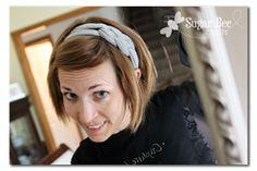 Sugar Bee Crafts: Knotted Headband with tshirt yarn