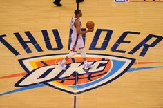Russell Westbrook of the Oklahoma City Thunder dribbles up the court against the San Antonio Spurs in Game Four of the Western Conference Finals during the 2014 NBA Playoffs on May 27, 2014 at the Chesapeake Energy Arena in Oklahoma City,Oklahoma. (Photo by Noah Graham/NBAE via Getty Images)