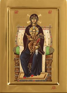 Theotokos Enthroned Whispers of an Immortalist: Icons of the Most Holy Theotokos 2 Byzantine Icons, Byzantine Art, Jesus Father, Mama Mary, Blessed Mother Mary, Best Icons, Orthodox Christianity, Madonna And Child, Orthodox Icons