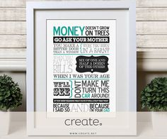 """#WIN a wonderful print of """"Dad Sayings"""" from Jemmas Personalised Prints with this weeks #FreebieFriday. Perfect gift for #FathersDay ! Click to enter on Facebook"""