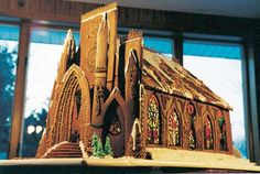 Former First-Place WinnerBecky Stella of Minneapolis crafted this striking cathedral with melted Jol... - Courtesy of Becky Stella