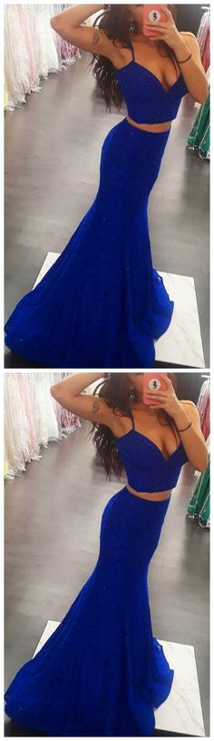 Sexy Spaghetti Straps Royal Blue Long Prom Dress, V neck Evening Party Dress Funny Bridal Funny Dresses, Prom Girl Dresses, Prom Dresses With Sleeves, Backless Prom Dresses, Mermaid Evening Dresses, Party Dresses, Trendy Dresses, Wedding Dresses, Beautiful Gowns