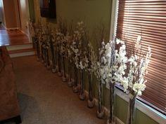 My DIY branch centerpieces | Weddingbee Photo Gallery