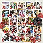 Disney A-Z character scrapbook page layout idea. Super fun layout!!