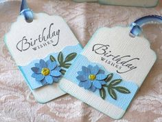 Floral Birthday Tags