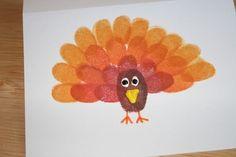 Thanksgiving Craft: Fingerprint Turkey Cards | The Charmed Mom by rhoda