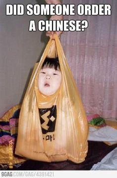 bahahahaha chinese take out Cute Chinese Baby, Chinese Babies, Asian Babies, Asian Child, Funny Kids, Funny Cute, Lol, Baby Pictures, Funny Pictures