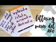 Lettering: Meses del año - Tutorial - Bullet journal - UGDT - YouTube