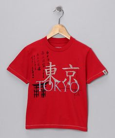 Red 'Tokyo' Tee from Dogwood on #zulily