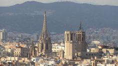 Catedral de Barcelona des de Miramar