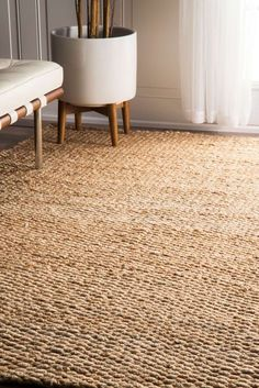 Bring The Rustic And Natural Look To Your Space With This Shade Jute Rug