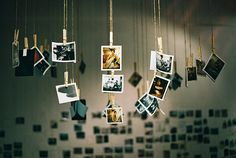 hanging polaroids, this would look great on my room!