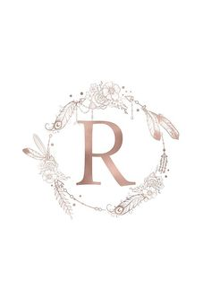 r letter 'Letter R Rose Gold Pink Initial Monogram' Spiral Notebook by naturemagick Gold Wallpaper Background, Rose Gold Wallpaper, Name Wallpaper, Monogram Tattoo, Monogram Initials, Letter Monogram, Letter R Tattoo, Monogram Notebook, Monogram Wallpaper