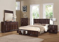 Travell 5 PC Contemporary Bedroom Set by Acme Furniture