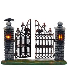 Department 56 Halloween Village Collection Spooky Wrought Iron Gate - More Decorations - For The Home - Macy's