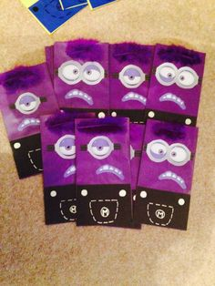 Evil minion party bags!