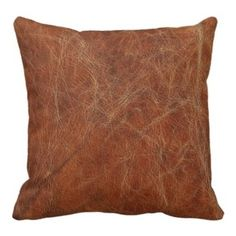 Southwest Leather Look Throw Pillow - This polyester pillow cover looks just like the real thing with those wrinkle lines. It comes in various shapes and sizes to choose from.