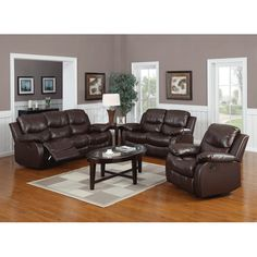 Reclining couch and loveseat set introduction Reclining Living Room Sets You& Love 3 Piece Living Room Set, Leather Living Room Set, Leather Sofa Set, Living Room Sets, Leather Recliner, Leather Chairs, Leather Sectional, Sectional Sofa With Recliner, Sofa Couch