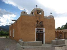 Church San Juan De Los Lagos Talpa, NM (New Mexico) by thelittlespring, via Flickr New Mexico Style, Taos New Mexico, New Mexico Usa, Abandoned Churches, Old Churches, Catholic Churches, Santa Fe Style, New Mexican, Hotel California