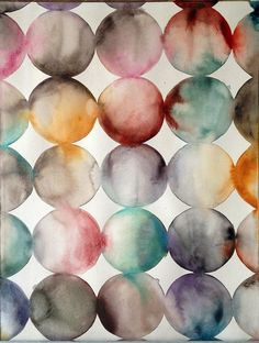 Untitled 7 ~ artist Lourdes Sanchez, watercolor, 28 x 20 Abstract Watercolor Art, Watercolor Projects, Watercolor And Ink, Watercolor Illustration, Watercolor Circles, Inspiration Artistique, Turbulence Deco, Guache, Textures Patterns