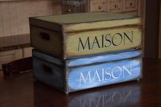 Maison Decoupage, Decorative Boxes, Home Decor, Home, Decoration Home, Room Decor, Home Interior Design, Decorative Storage Boxes, Home Decoration